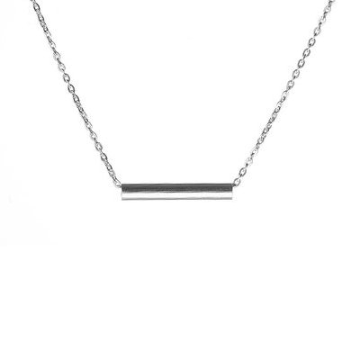 collier argent tube